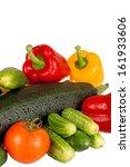 zucchini courgette  sweet... | Shutterstock . vector #161933606