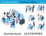 isometric business people at... | Shutterstock .eps vector #1619349085