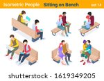 Isometric People With Notebook...
