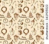 seamless christmas pattern    Shutterstock .eps vector #161935022