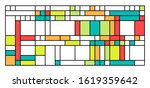 piet mondrian imitation... | Shutterstock .eps vector #1619359642