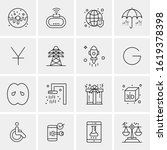 16 business universal icons...   Shutterstock .eps vector #1619378398