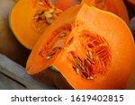 Colorful Cut Slice Of Orange...