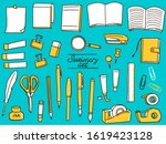 stationery fashionable hand...   Shutterstock .eps vector #1619423128