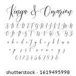 brush script font alphabet... | Shutterstock .eps vector #1619495998