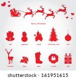 merry christmas | Shutterstock .eps vector #161951615