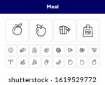 meal line icon set. set of line ... | Shutterstock .eps vector #1619529772