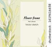 floral text banner on with leaf ...   Shutterstock .eps vector #1619616658