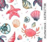 Watercolor Seamless Pattern In...