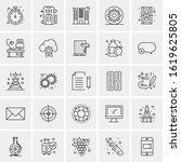 25 universal icons vector...   Shutterstock .eps vector #1619625805
