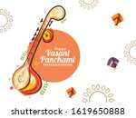 decorated instrument veena for... | Shutterstock .eps vector #1619650888