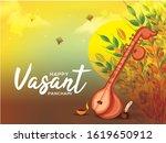 decorated instrument veena for...   Shutterstock .eps vector #1619650912