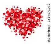vector valentine s day heart... | Shutterstock .eps vector #1619671072