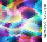 pattern of geometric shapes.... | Shutterstock .eps vector #161967158