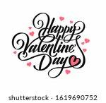 "phrase ""happy valentine's day.... | Shutterstock .eps vector #1619690752"