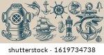 set of vector illustrations on... | Shutterstock .eps vector #1619734738