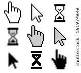 pixel cursors icons | Shutterstock .eps vector #161974646