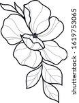 flower art black and white... | Shutterstock .eps vector #1619753065
