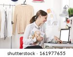 young fashion woman smiling. ... | Shutterstock . vector #161977655