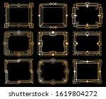 art deco frames. gold deco... | Shutterstock . vector #1619804272