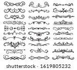 decorative swirls dividers. old ...   Shutterstock . vector #1619805232