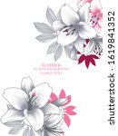 vintage abstract floral frame... | Shutterstock .eps vector #1619841352