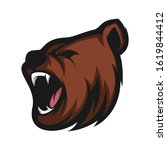 Head Bear Mascot Logo  Bear...