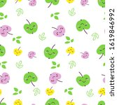 cute seamless pattern with... | Shutterstock .eps vector #1619846992