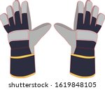 safety gloves in the industrial ... | Shutterstock .eps vector #1619848105
