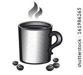 mug of coffee | Shutterstock .eps vector #161986265