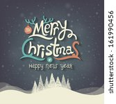 christmas greeting card. merry... | Shutterstock .eps vector #161990456