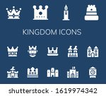 kingdom icon set. 14 filled... | Shutterstock .eps vector #1619974342