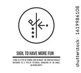 sigil to have more fun in your...   Shutterstock .eps vector #1619986108