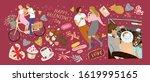 happy valentine's day  vector... | Shutterstock .eps vector #1619995165