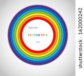 Rainbow Circle Label On White...
