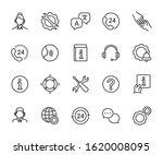 vector set of support service... | Shutterstock .eps vector #1620008095
