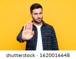 young handsome man with beard... | Shutterstock . vector #1620016648