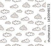 doodle vector seamless pattern... | Shutterstock .eps vector #1620048172
