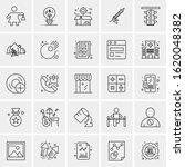 25 universal icons vector...   Shutterstock .eps vector #1620048382