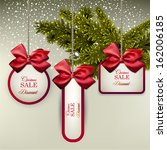 christmas gift cards with... | Shutterstock .eps vector #162006185