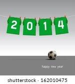 green soccer jerseys on the... | Shutterstock .eps vector #162010475