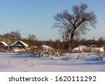 Winter Landscape  A Rustic...
