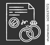 divorce chalk white icon on... | Shutterstock .eps vector #1620137572