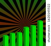 An Abstract Bar Chart With A...