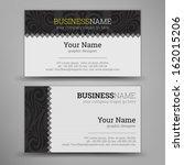 business card set. vector... | Shutterstock .eps vector #162015206