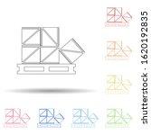 colored stock box in multi...