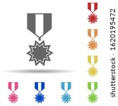 military medal in multi color...