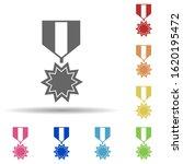 military medal in multi color...