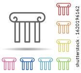 theatre column in multi color...