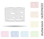 open book flat in multi color...